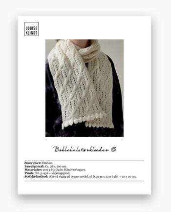 Boblehalstørklæde pdf strikkeopskrift